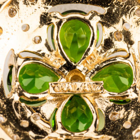 Four Leaf Clover Tsavorite Garnet Pendant