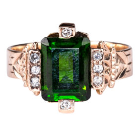 Rare Chrome Tourmaline Ring