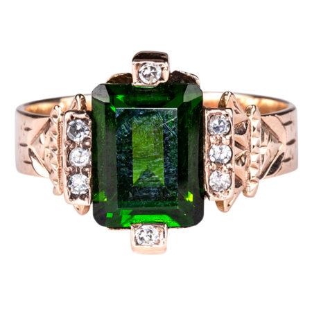 Rare Chrome Tourmaline Ring