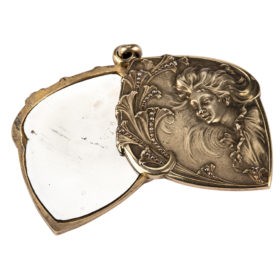 French Art Nouveau Flirting Mirror