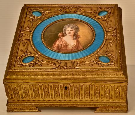 Cast Brass Boudoir Box