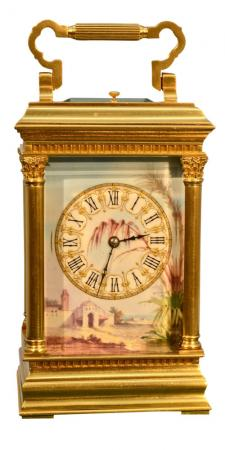 French Corinthian Case Carriage Clock